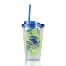 Custom WGG! The Infuser Double Walled w/Straw - 16oz Blue, 4.0