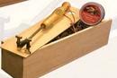 Custom Stock Initial Brass Branding Iron Deluxe Gift Set