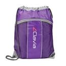 Custom The Leader Drawstring Bag - Purple, 14.0