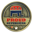 Custom Proud Republican Pin, 1