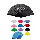 Custom Plastic Folding Hand Fan, 16 1/2