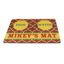Custom Sublimated Pet Mat Pad for Bowl or Litter box, 18