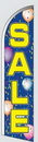 Custom 8' Poly-Knit Stock Sharkfin Flag (Sale w/Blue Balloon Background)