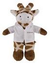 Custom Soft Plush Giraffe in Doctor's Jacket 12