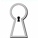 Custom Keyhole Notekeeper Magnet- 35 Mil Process Color (1-7/8