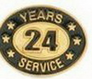 Custom Stock Die Struck Pin (24 Years Service)