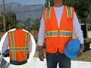 Custom ANSI 107-2010 Class 2 Safety Vests with Pockets