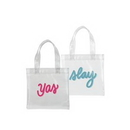Custom Continued Itty Bitty Tote (Clear + Grid Vinyl), 8