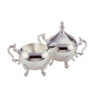 Custom Margaret Silver Cream & Sugar Bowl Set with Legs
