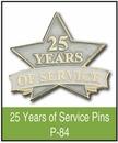Custom 25 Years of Service Pin