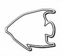 Custom Fish Notekeeper Magnet - 35 Mil Process Color (2 3/4