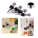 Custom Stainless Steel Ball Design Wine Bottle Stoppers, 3 1/2