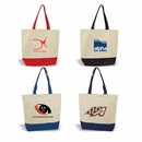 Custom Standard Cotton Canvas Tote, Grocery Shopping Bag, 17