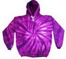 Custom Spider Purple Tye Dye Pullover Hoodie