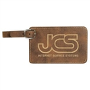 Custom Rustic/Gold Laserable Leatherette Luggage Tag, 4 1/4