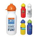 Custom 20 Oz. Value Cycle Bottle w/ Safety Helmet Push 'n Pull Cap, Full Color Digital