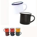 Custom 12oz Customed Enameled Steel Cup, 3 1/5
