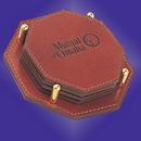 Custom Genuine Leather Coaster - ON SALE - LIMITED STOCK, 4.125