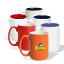 Coffee mug, 15 oz. El Grande Ceramic Mug (Two Tone), Personalised Mug, Custom Mug, Advertising Mug, 4.5