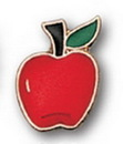 Red Apple Stock Pin
