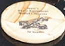 Custom Teak Genuine Marble Round Coaster (3.75
