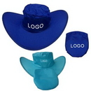 Custom 190T Polyester Foldable Cowboy Hat, 3 1/2