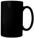 Custom 18 oz. Bismarck Straight Side Mug, Black, 5 3/16