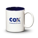 Custom Thames Mug - 11oz White/Cobalt