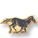 Custom Mustang Mascot EM Series Pin