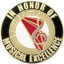 Blank Hard Stoned Enamel Music Pins (Musical Excellence), 1