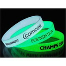Glow in the Dark Printed Custom Silicone Wristband (15 Day Delivery), 1/2