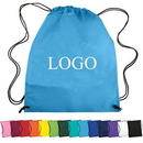 Custom 210D Polyester Drawstring Backpack, 13 2/5