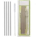 Custom Stainless Steel Straw Set, 0.25