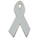 Blank Grey Awareness Ribbon Lapel Pin, 1