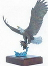 Lightning Strikes (Bald Eagle) w/ Trout Sculpture (24