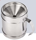 Custom Continental Style Polished Stainless Steel Wine Tasting Personal Spittoon, 4 7/8