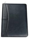 Custom Pinnacle Padfolio Folder W/ Calculator, Zipper & USB Holder, 9 7/8