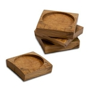 Custom Barrel Stave Wooden Coasters - Pack of 4, 4