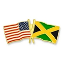 Custom Usa & Jamaica Flag Pin, 1 1/8