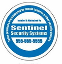 Custom Circle Double Face Security Decals (3