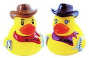 Custom Rubber Mini Rodeo Duck, 1 3/4