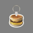 Key Ring & Full Color Punch Tag - Breakfast Sandwich