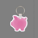 Custom Key Ring & Full Color Punch Tag - Piggy Bank