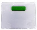 Custom Horizontal Vinyl Badge Holder w/ Green Magnet (3