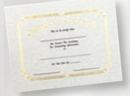 Custom Foil Embossed Stock Certificate (Achievement), 8 1/2