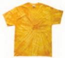 Custom Spider Gold Tye Dye T-shirt