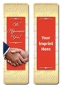 Custom Stock Full Color Digital Printed Bookmark - Thank You