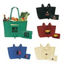 Custom Special Design Eco Green Fold-up shopping Tote, 22