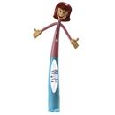 Custom Female Health Care Professional Bend-A-Pen (Full Color Digital)