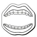 Custom Mouth Notekeeper Magnet - 20 Mil Process Color (1 3/4